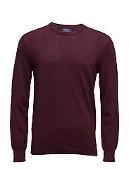 Slim Fit Pima Cotton Crewneck Sweater - ITALIAN RED