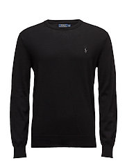 Pima Cotton Crewneck Sweater - POLO BLACK