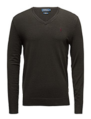 Wool-Blend V-Neck Sweater - DARK LODEN