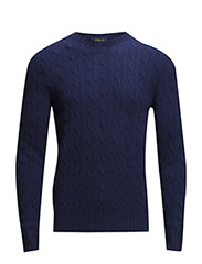 CABLE CN-LONG SLEEVE-SWEATER - SKIPPER BLUE