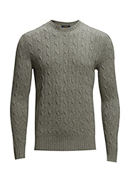 CABLE CN-LONG SLEEVE-SWEATER - FAWN GREY HEATH