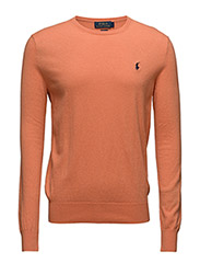 Slim Cotton-Cashmere Sweater - BEACH ORANGE HE