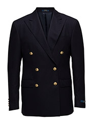 Polo Doeskin Wool Sport Coat - NAVY