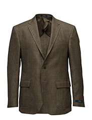 Polo Linen-Blend Sport Coat - OLIVE/PURPLE