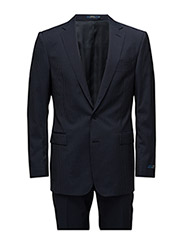 POLO STRIPED WOOL SUIT - NAVY/WHITE