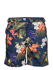 MONACO SWIM TRUNK - NAVY TROPICAL FLORAL