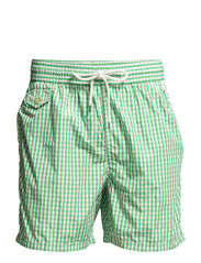 TRAVELER-SHORT - 33 GREEN GINGHA