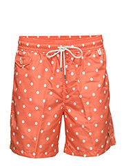 5¾-Inch Traveler Swim Trunk - POLKA DOT MELON