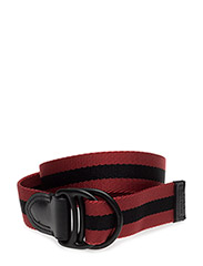 Double Ring Casual Belt - RED / BLACK