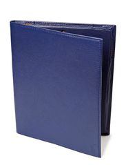 PEBBLED LEATHER MEDIA CASE - COBALT BLUE