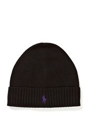 MERINO FOLD CAP W/ PP - POLO BLACK