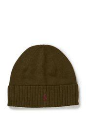 MERINO FOLD CAP W/ PP - OLIVE