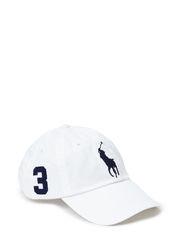 CLS SPT CAP W/LEATHER BCKSTRAP - WHITE/NAVY