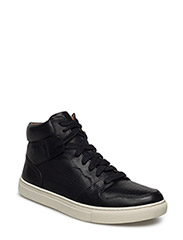 JORY CALFSKIN HIGH-TOP SNEAKER - BLACK