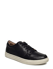 JESTON LEATHER LOW-TOP SNEAKER - BLACK