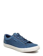 GEFFREY SUEDE LOW-TOP SNEAKER - DENIM