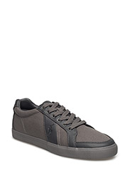 HUGH CANVAS LOW-TOP SNEAKER - CHARCOAL GREY/C