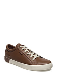 Aldric II Leather Sneaker - DEEP SADDLE TAN