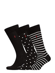 STRIPE - SOLID - DOT  SET - BLACK