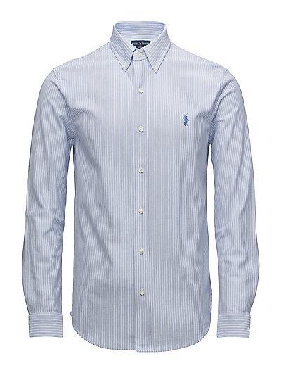 Classic fit knit oxford shirt dress shirt blue 999 kr for Oxford vs dress shirt