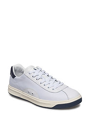 Court 100 Leather-Mesh Sneaker - WHITE/NEWPORT NAV
