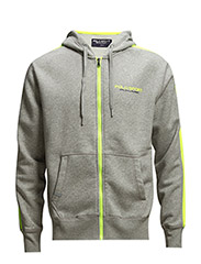 COTTON-BLEND-FLEECE HOODIE - ANDOVER HTHR
