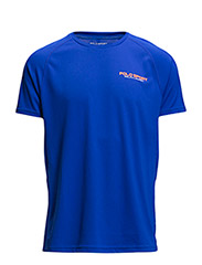 MICRO-DOT JERSEY T-SHIRT - PACIFIC ROYAL