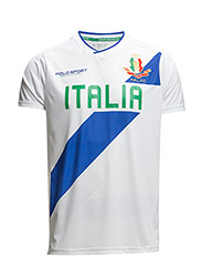 ITALY JERSEY V-NECK T-SHIRT - PURE WHITE