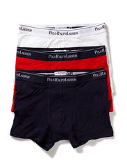 3 PACKS POUCH TRUNKS - WHITE/RED/BLUE