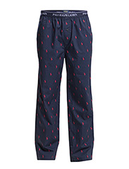 PYJAMA LONG PANT W/ ELASTIC - CR NVY/RED AOPP