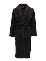 SHAWL COLLAR ROBE - POLO BLACK