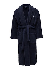 Shawl-Collar Robe - CRUISE NAVY