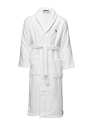 SHAWL COLLAR ROBE - WHITE