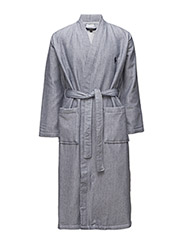 Terry-Lined Shawl-Collar Robe - CRUISE NAVY