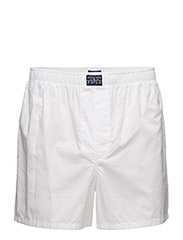 Woven Cotton Boxer - WHITE