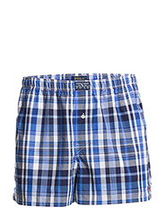 WOVEN BOXER W/SELF WAISTBAND - JAMES PLAID