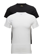 Crewneck Undershirt 2-Pack - 2PK POLO BLACK/ WHITE