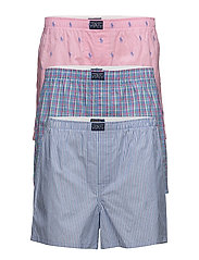 Cotton Boxer 3-Pack - 3PK WALKER PLD/JAMES STR/PINK