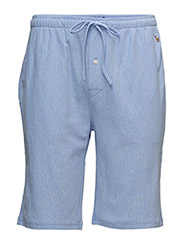 Knit Oxford Sleep Short - HARBOUR ISLAND BLUE