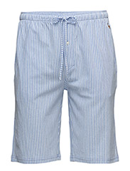 Knit Oxford Sleep Short - HARBOUR ISLAND BLUE/WHT STRIPE
