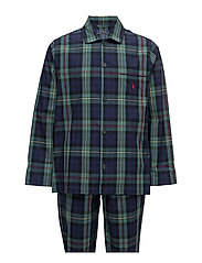 Plaid Woven Cotton Sleep Set - SPENCER PLAID