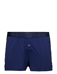 Stretch Cotton Boxer - DEEP ATLANTIC
