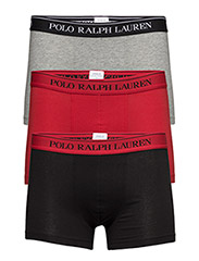 Stretch-Cotton-Trunk 3-Pack - BLACK/AN HTHR/RED