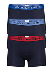 Stretch Cotton Trunk 3-Pack - NVY/SAPP/ NVY/BLU/ NVY/RED
