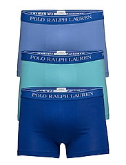 Stretch Cotton Trunk 3-Pack - 3PK SAPPHIRE/BLUE/AQUA