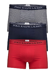 Stretch Cotton Trunk 3-Pack - 3PK RED/NAVY STRI