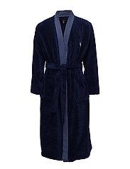 Light Weight Terry Kimono Robe - DEEP ATLANTIC