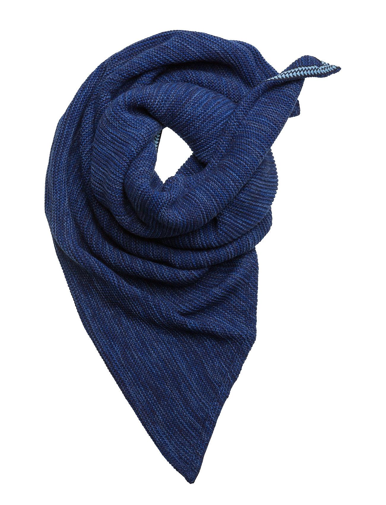 f52b24117040 Shop Knitted Horizon POM Amsterdam Halstørklæder i Blå til Damer på  internettet