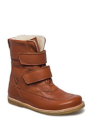 Winterboots with velcro - CAMEL