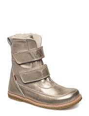 Winterboots with velcro - ICE CHAMPAGNE